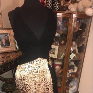David's bridal leopard print prom dress. Size 2